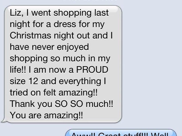 Text testimonial for Liz Stewart